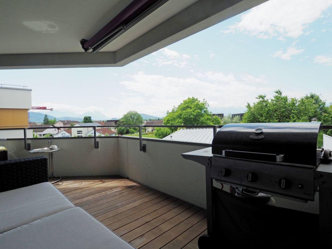 Balkon mit unverbaubarer Aussicht