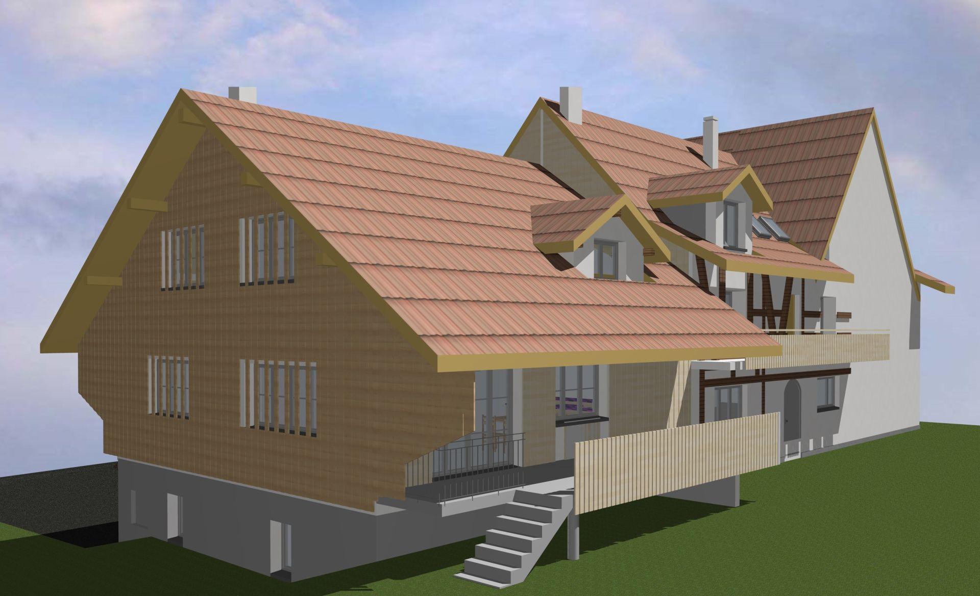 Zu vermieten neues Eckhaus