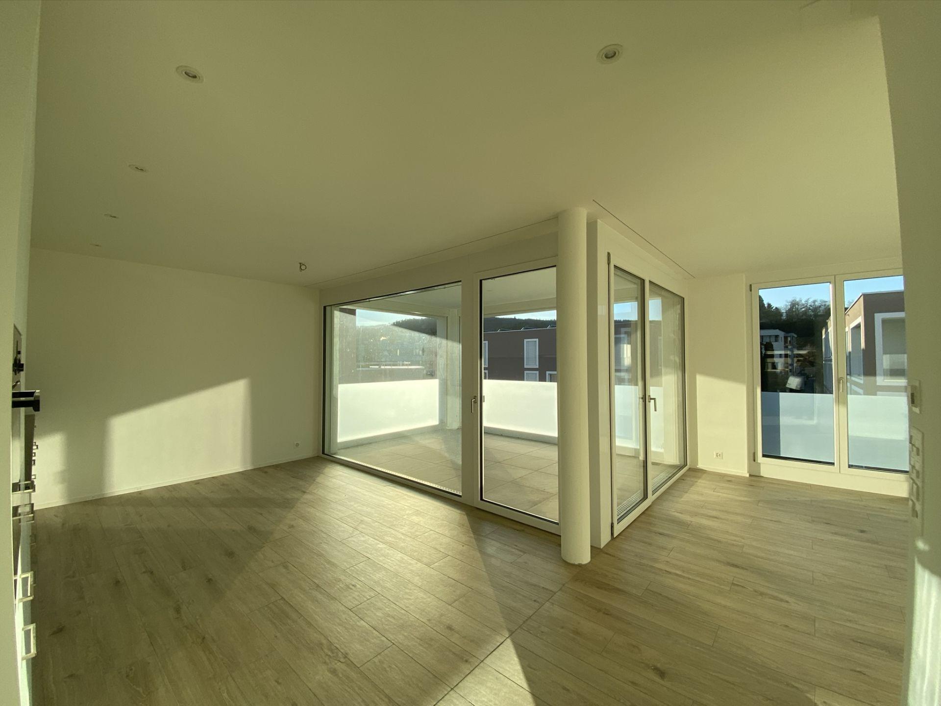 Miete: neuwertige Wohnung mit grosser Loggia