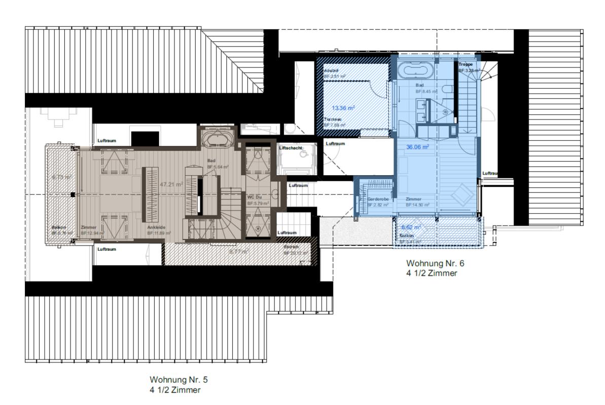 Talina 4.5-Zimmer-Maisonettewohnung Nr. 6