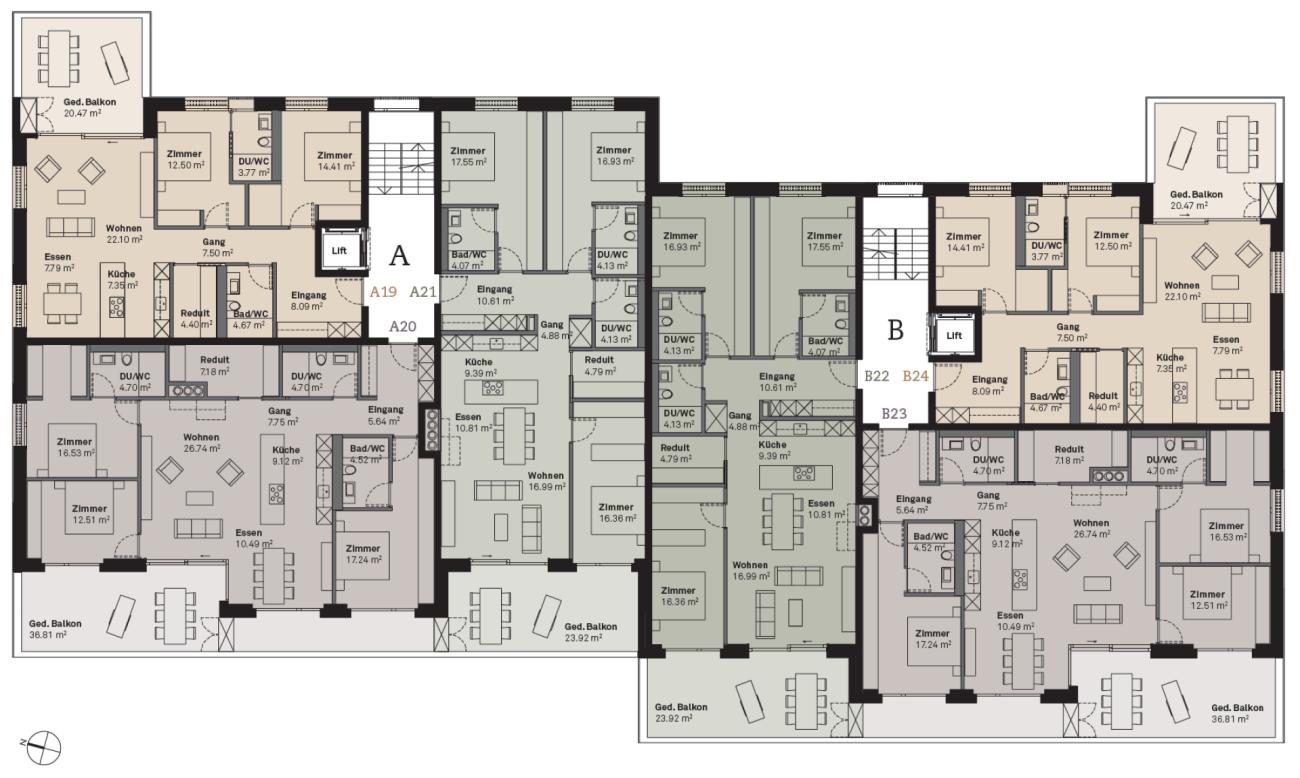 Prasüra B24 3.5-Zimmer-Wohnung  (Erstwohnung)