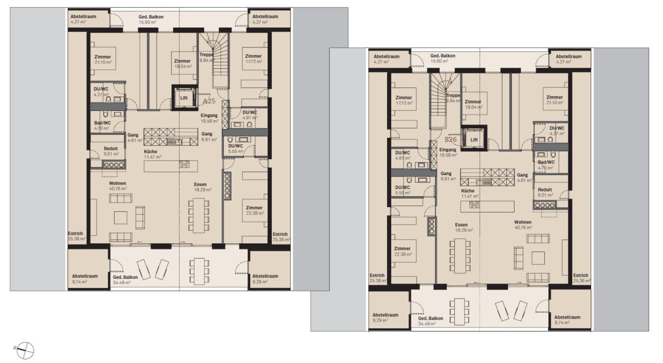 Prasüra B26 5.5-Zimmer-Attikawohnung