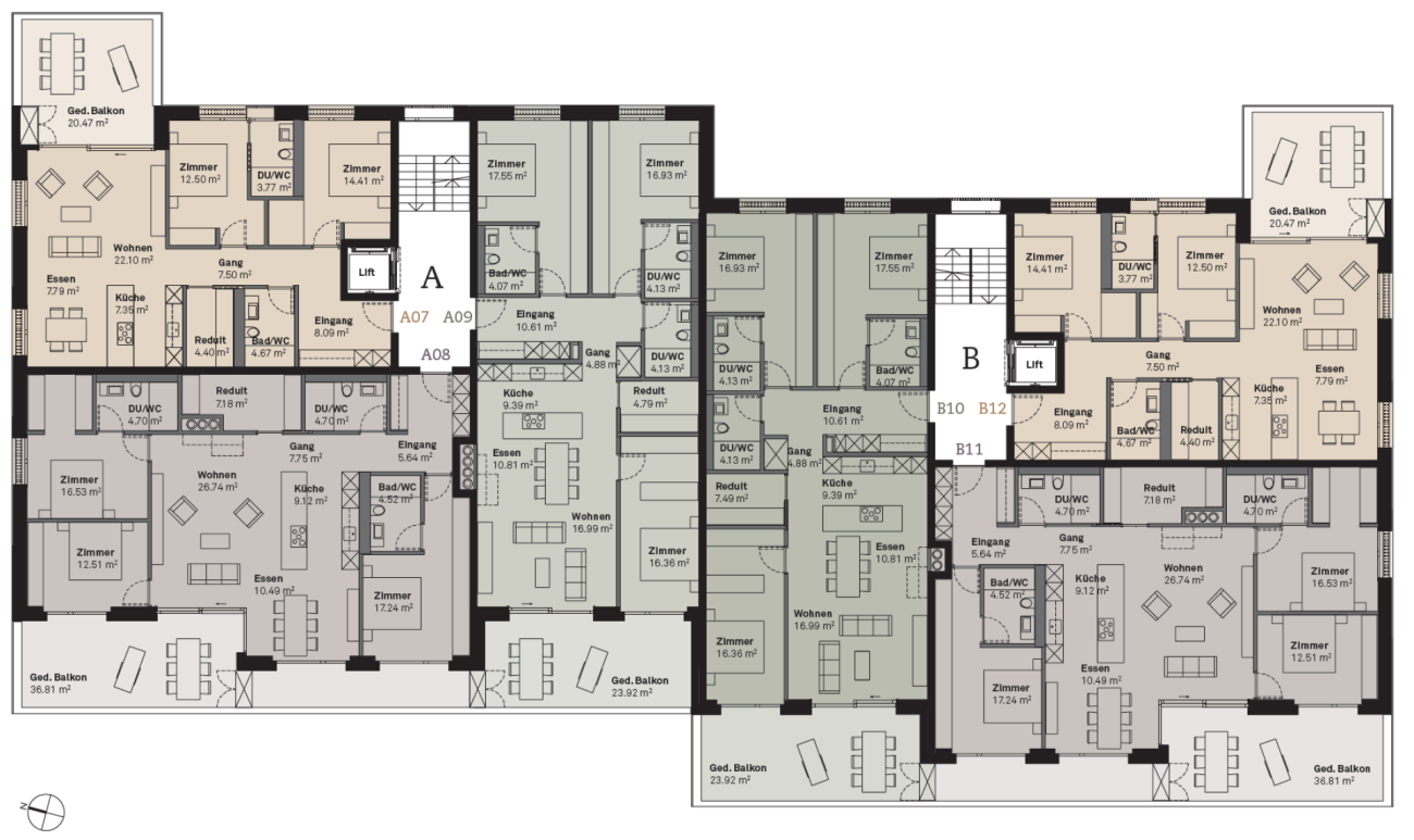 Prasüra B12 3.5-Zimmer-Wohnung  (Erstwohnung)