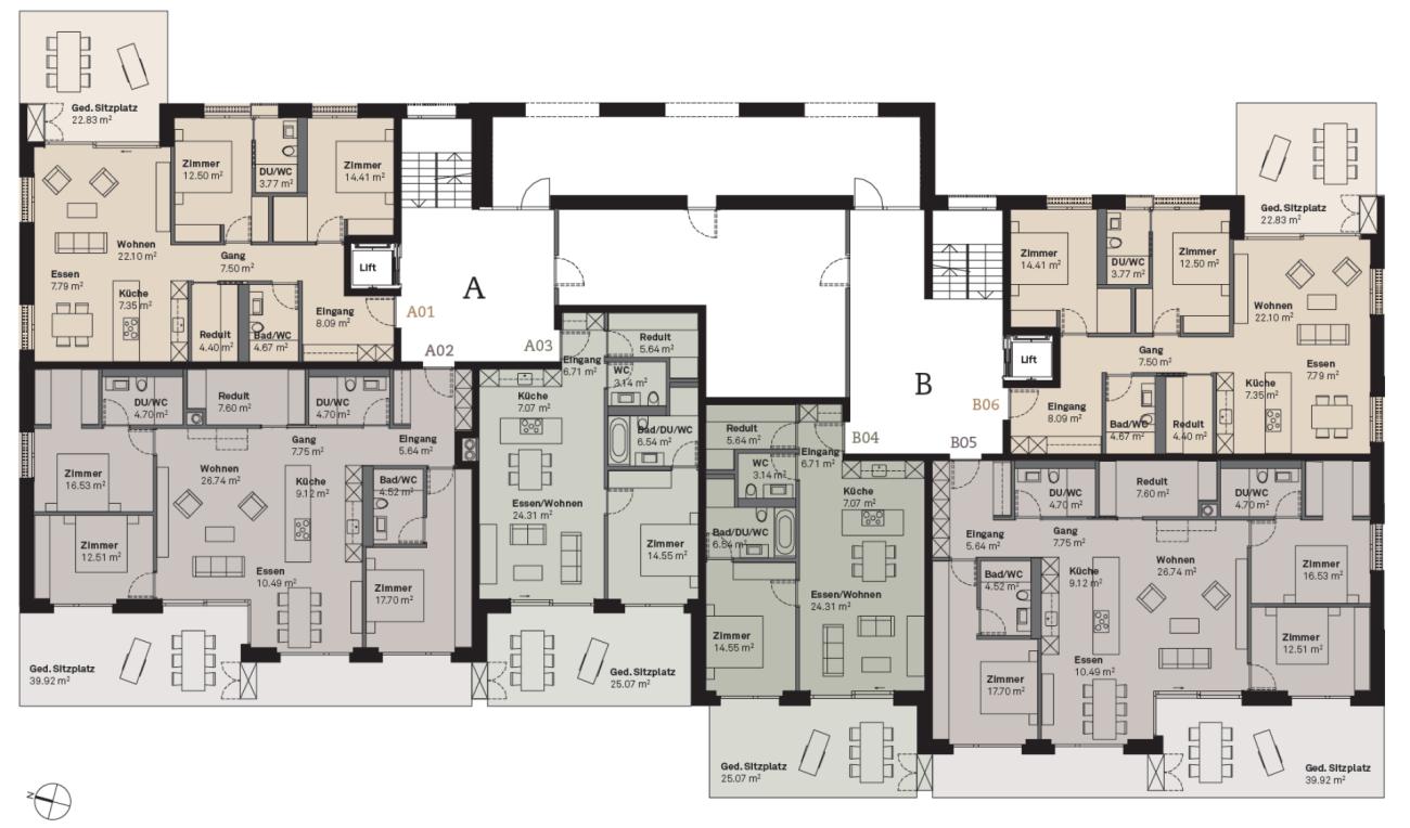 Prasüra A01 3.5-Zimmer-Wohnung  (Erstwohnung)