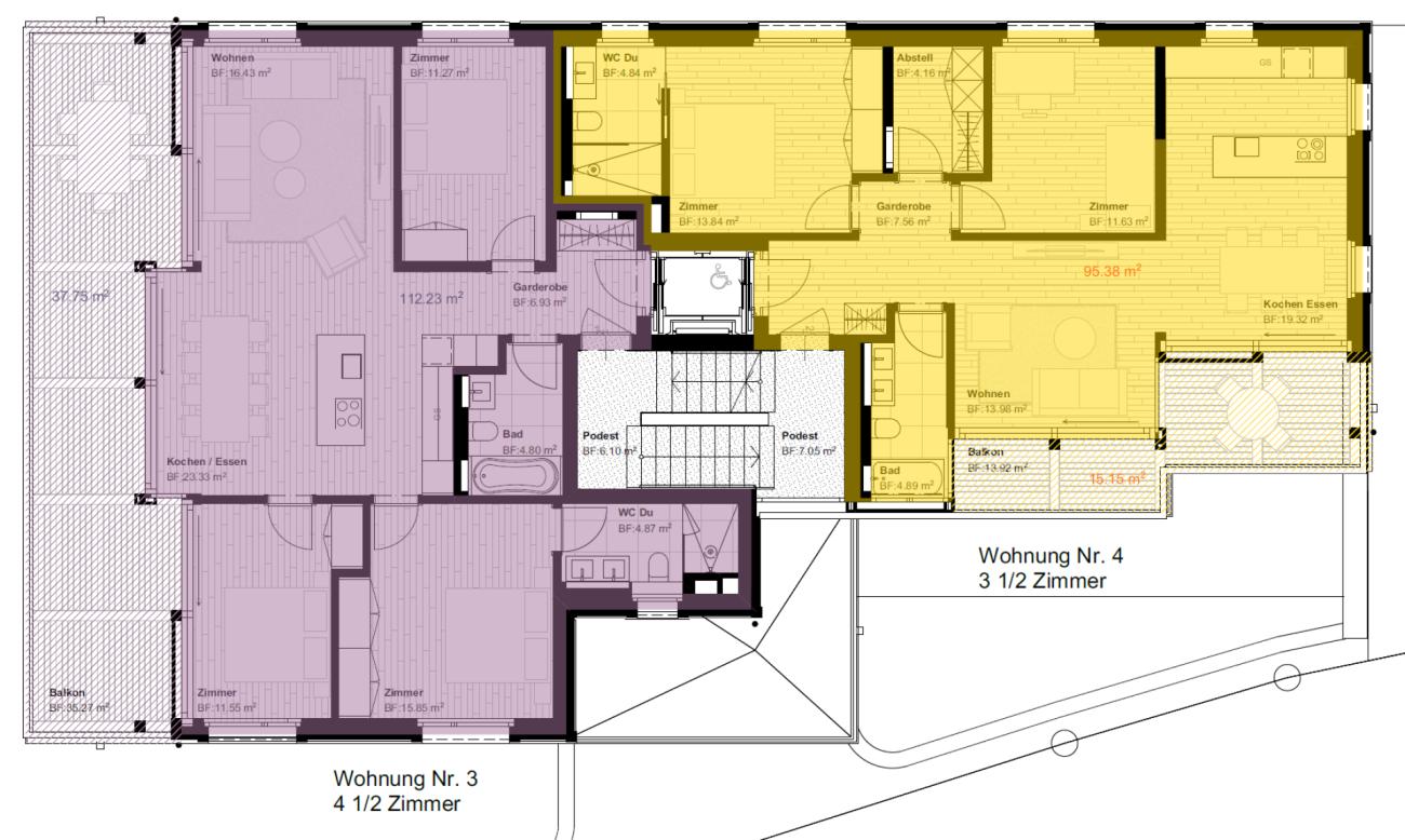 Talina 3.5-Zimmer-Wohnung Nr. 4 (Erstwohnung)