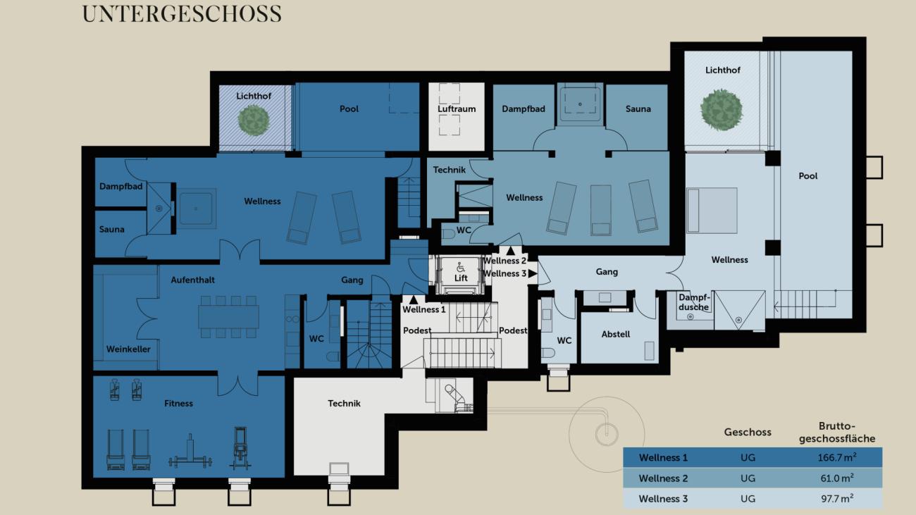 Talina 4.5-Zimmer-Maisonettewohnung Nr. 6 + privater Wellness Nr. 3