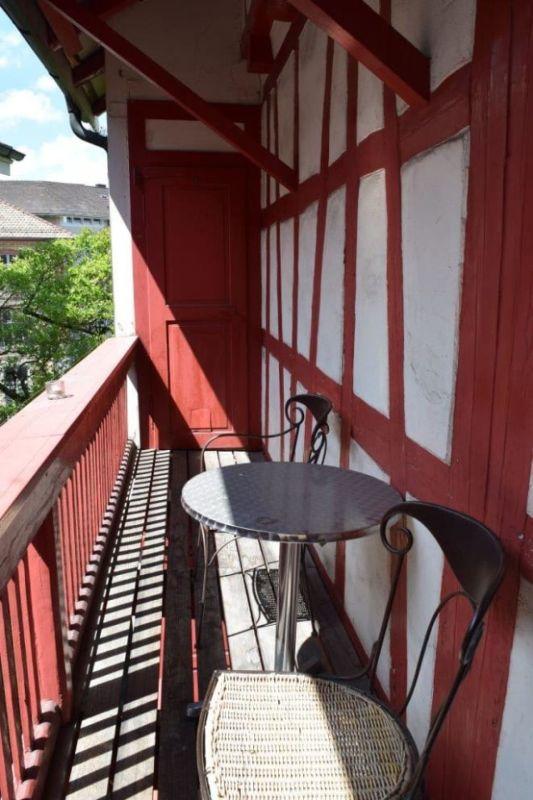 Balkon Hofseite