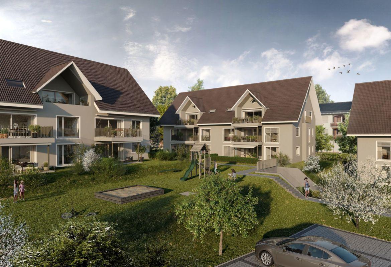 Wohnhäuser mit Innenhof
