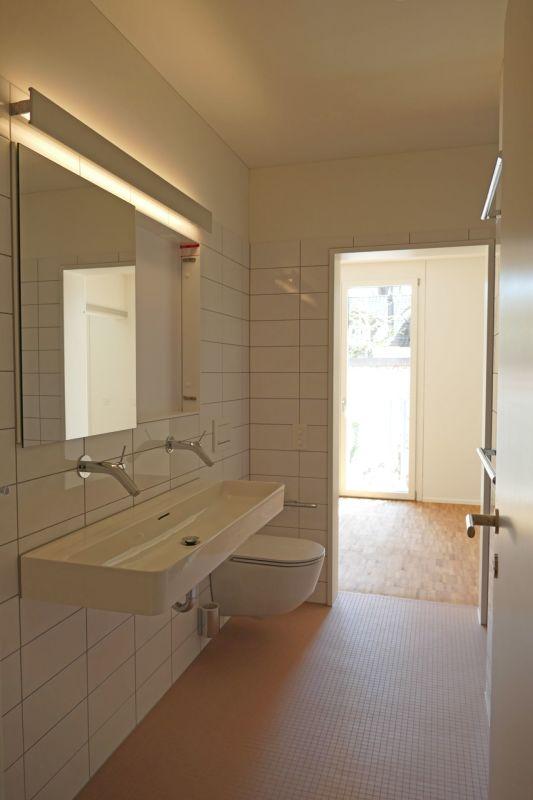 Nassbereich mit Dusche und WC