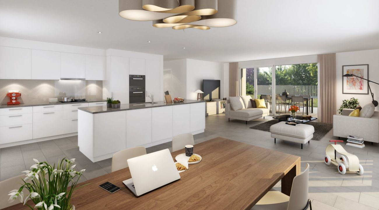 Neubau: 3.5-Zimmer-Gartenwohnung an sehr guter Lage