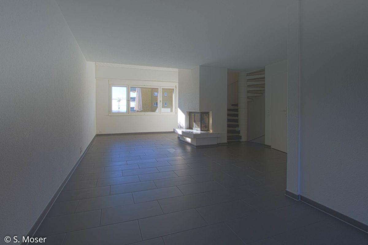 Wohnzimmer mit Cheminée
