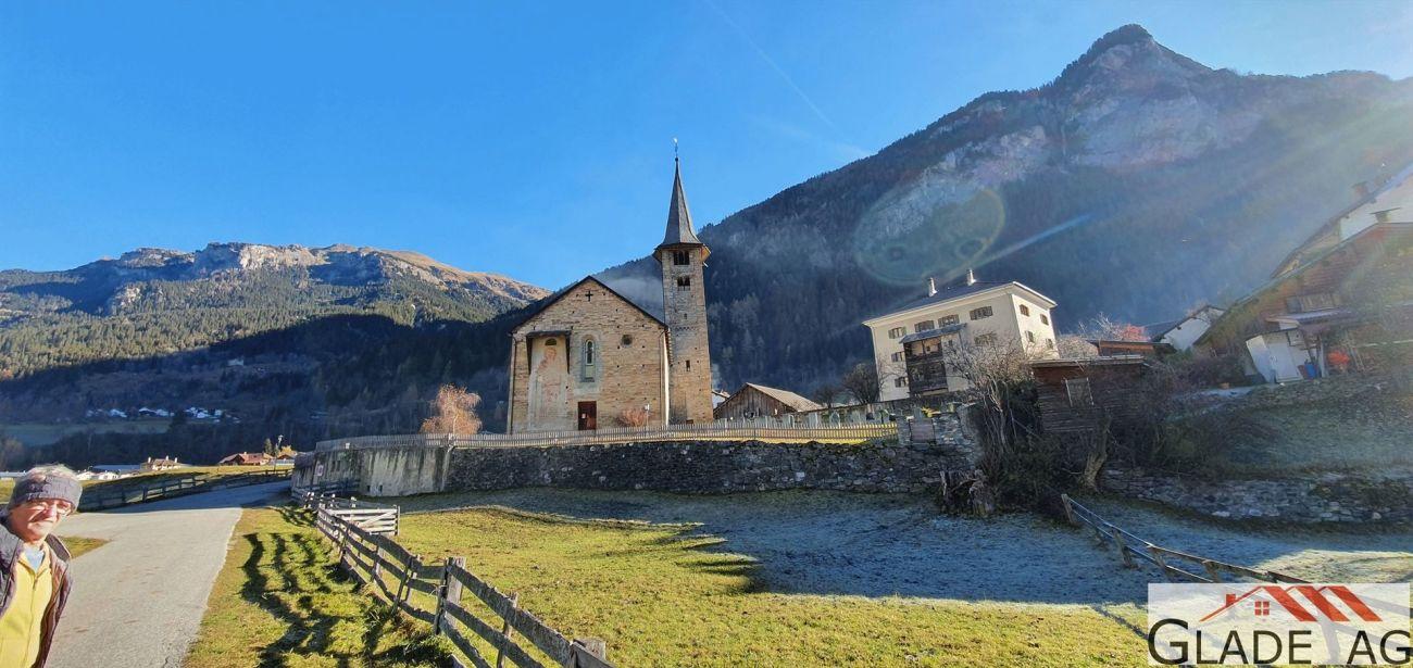 Blick vom südlichen Parz.Ende zu Kirche St.Martin