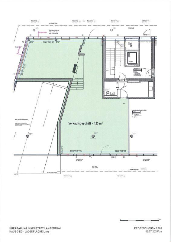 """Ladenlokal in der Überbauung """"Innenstadt"""" im Zentrum von Langenthal"""