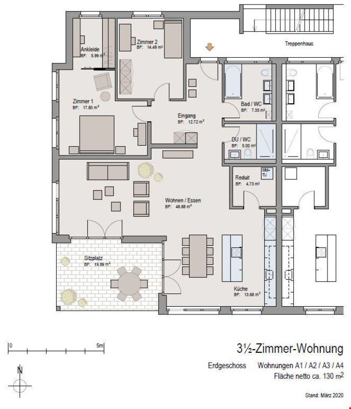 Grundrissplan Wohnungen A
