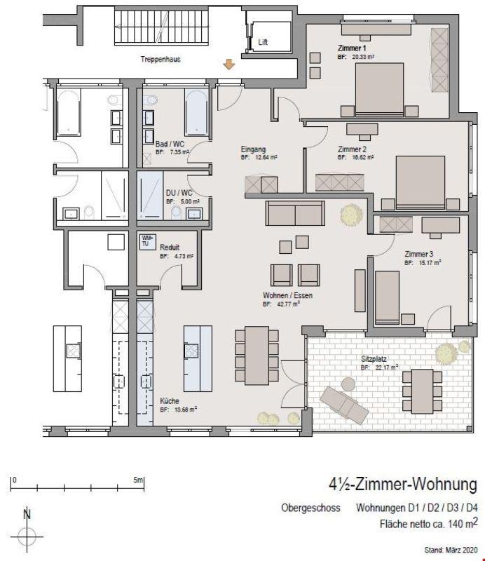 Grundrissplan Wohnungen D