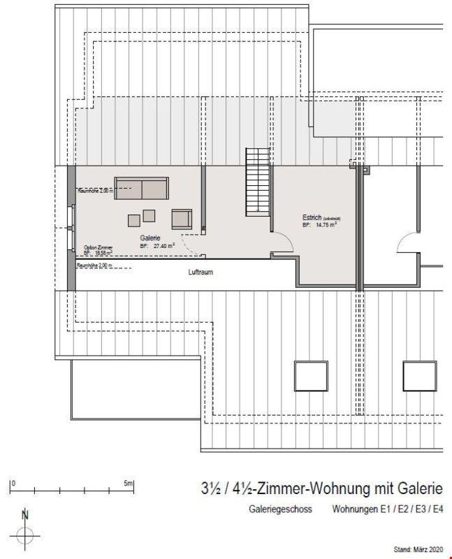 Grundrissplan Wohnungen E