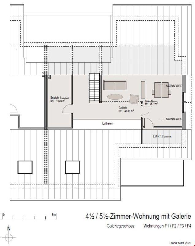 Grundrissplan Wohnungen F