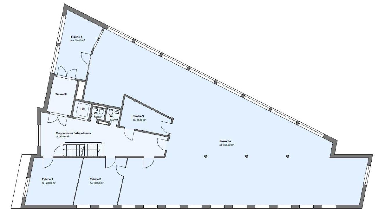 Bis zu 850m2 Büroflächen zu vermieten