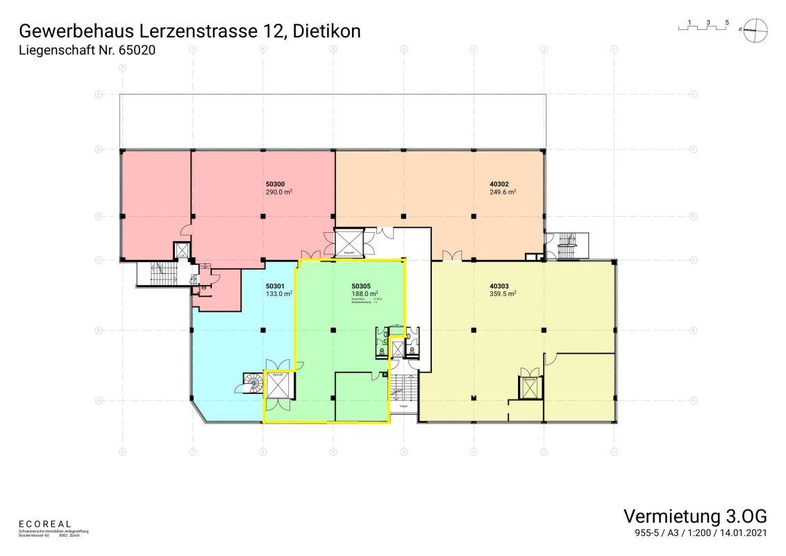 Lager-/Gewerbefläche in Dietikon, Lerzenstrasse 12