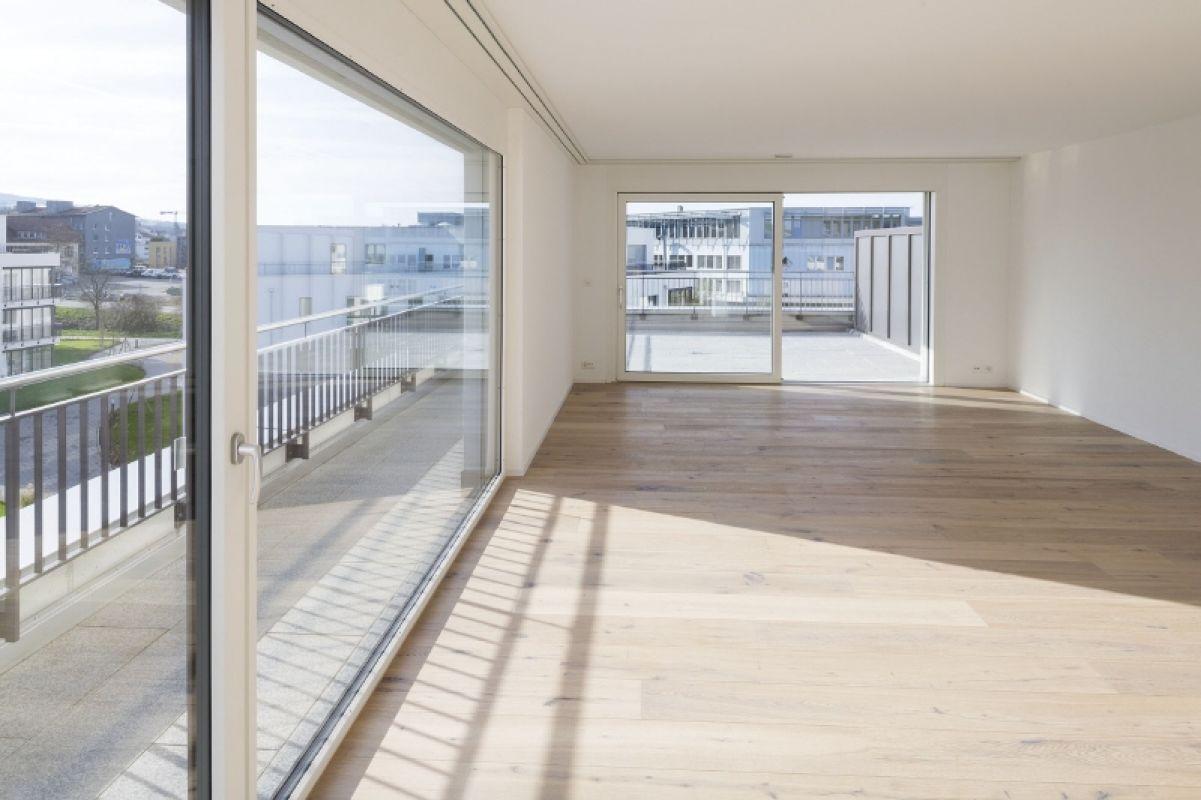 Wohnzimmer und Terrasse Attika