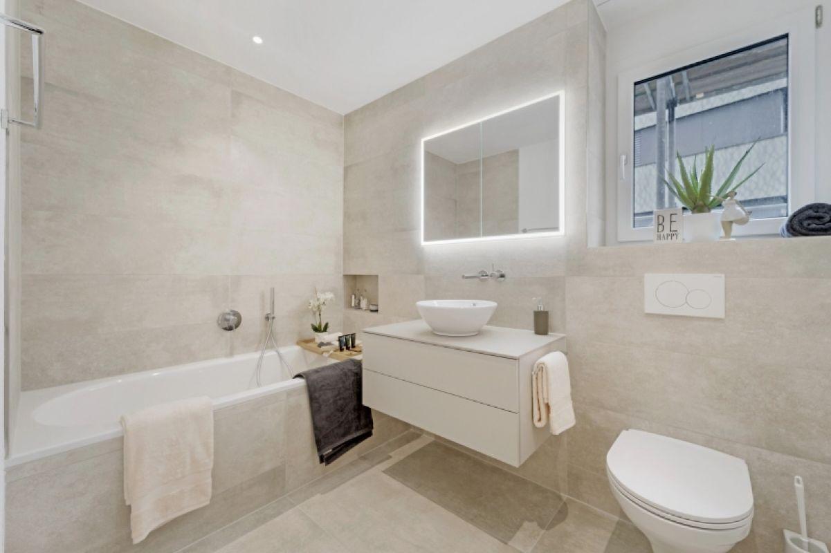 Beispielfoto Musterwohnung C11 Badezimmer