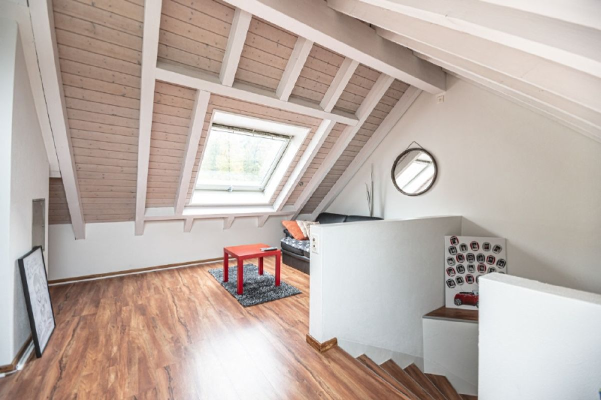 Ausgebautes Dachzimmer