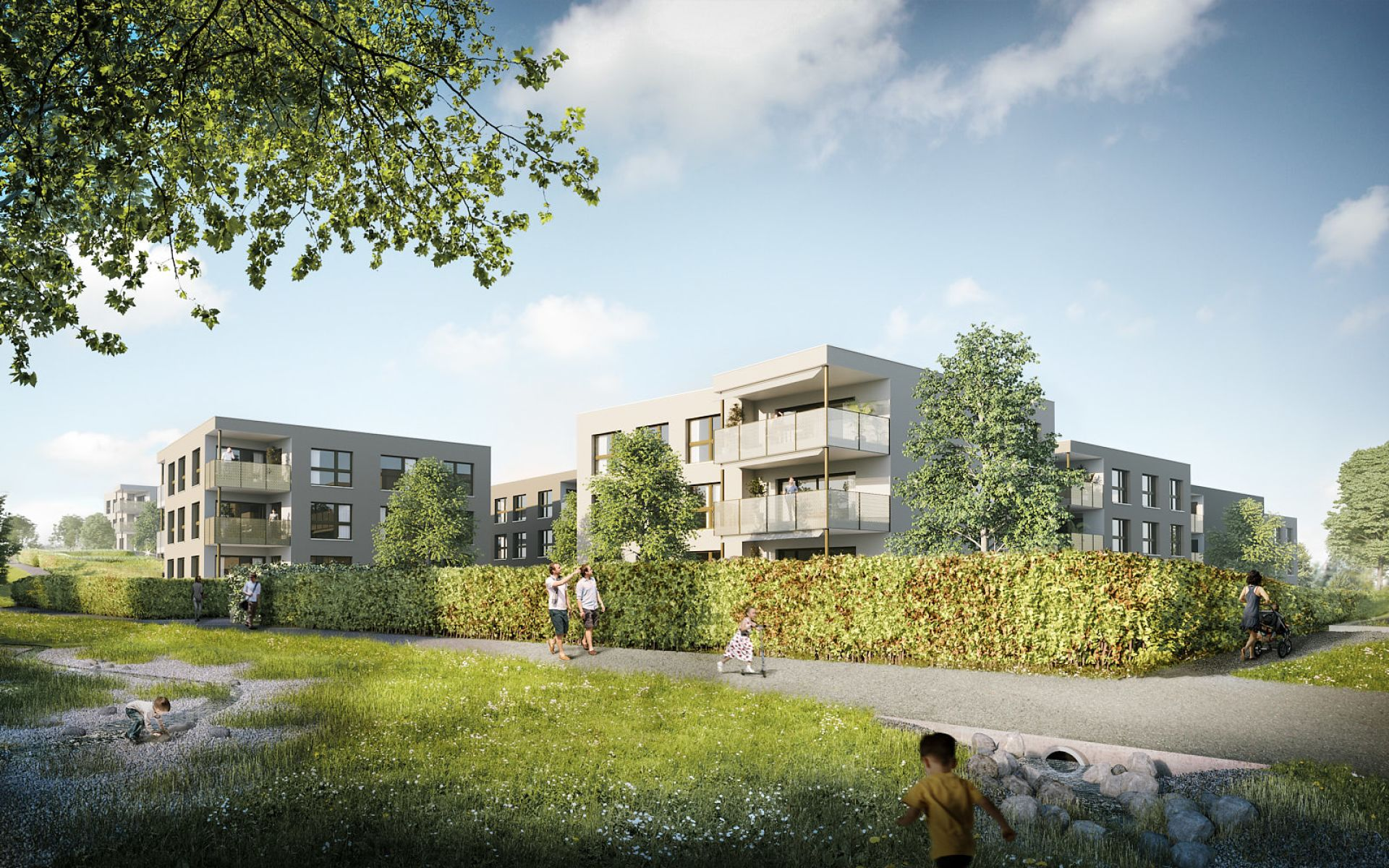 Miete: Neubau - Wohnung mit Balkon