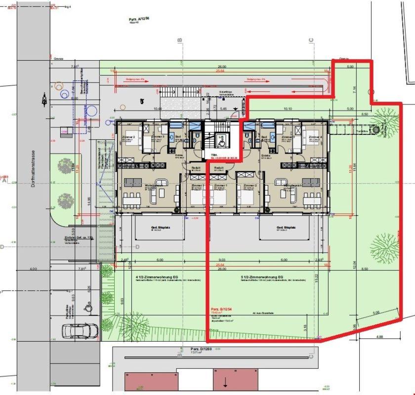 Leben wie im Einfamilienhaus - Luxuriöse 5.5-Parterrewohnung