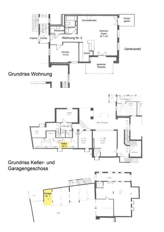 Wohnung / Keller / Einstellplatz