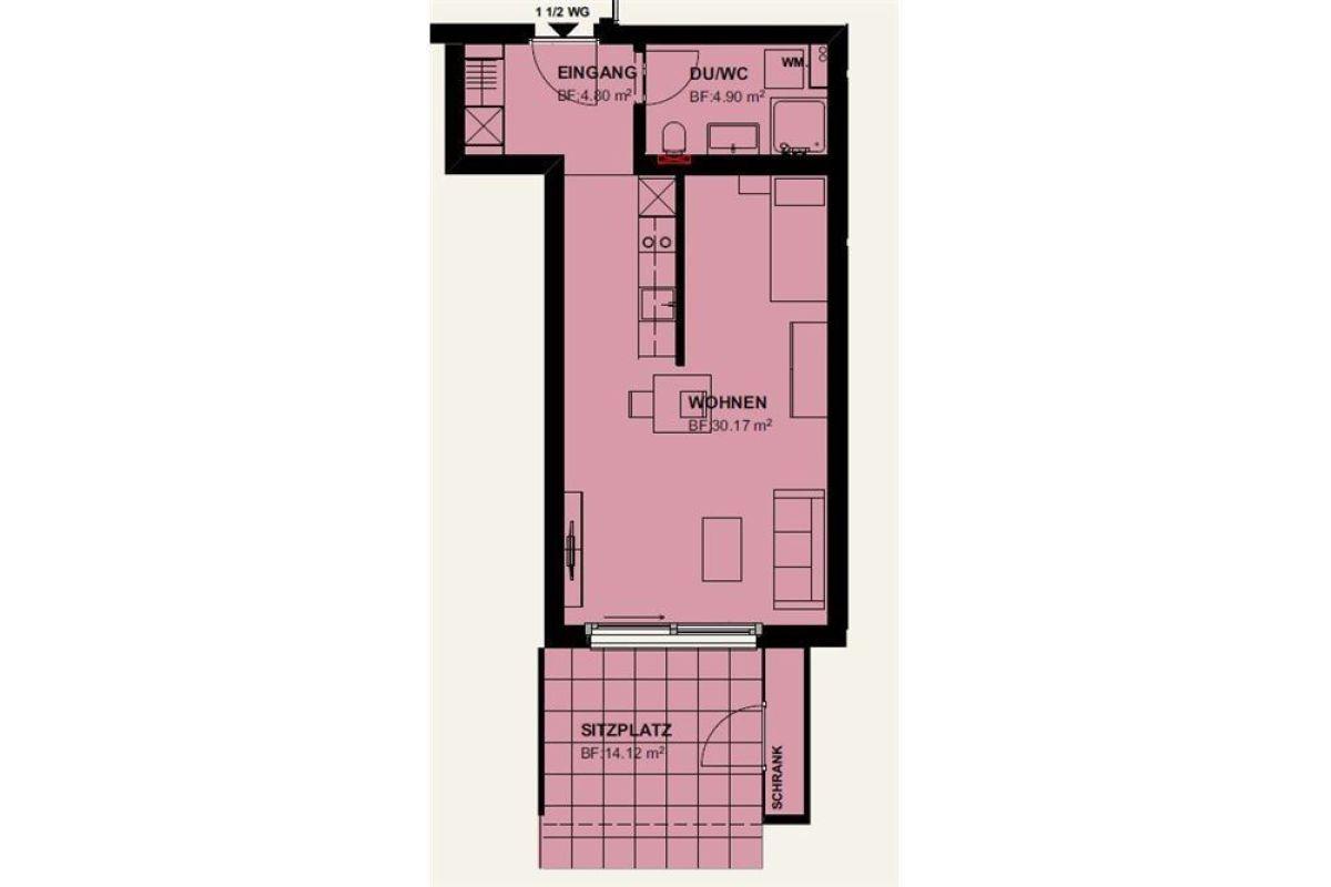 1½ Zimmerwohnung im EG / Erstbezug 01. April 2021