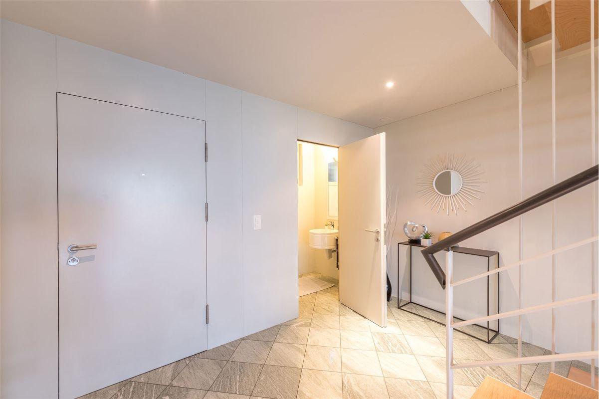 Eingangsbereich mit Gästetoilette und Lavabo