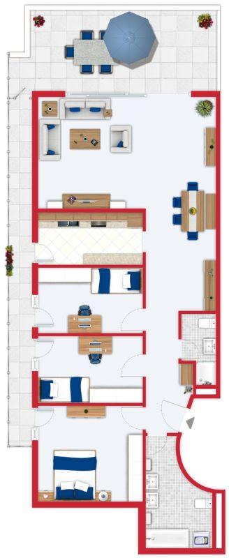 Grundriss 4,5-Zimmerwohnung