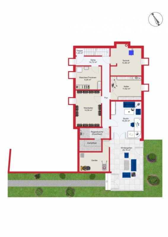 Übersichtsplan Grundriss UG