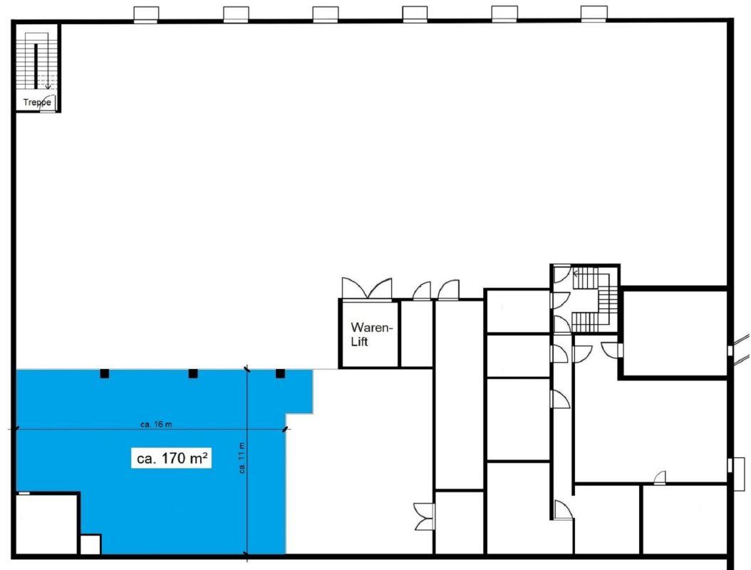 Grundriss Untergeschoss (nicht massstäblich)