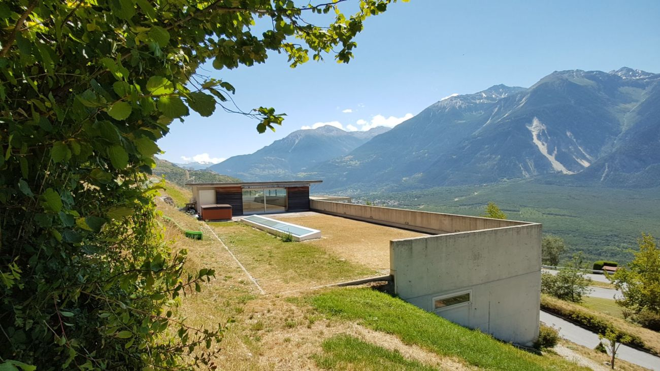Moderne Villa + Bauland über dem Rhonetal - Luxury 778 Ltd