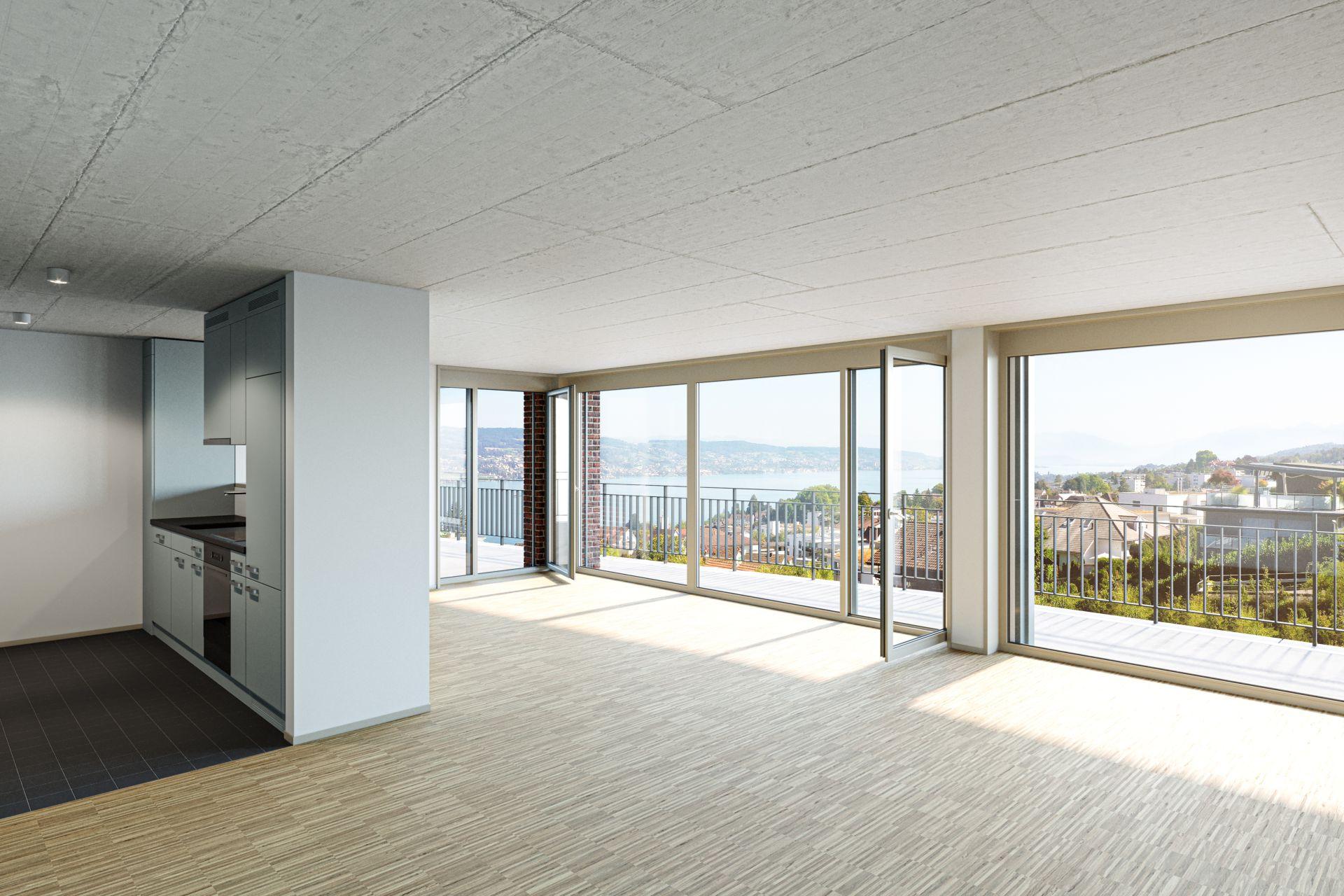 Erstvermietung: moderne Wohnung mit Panoramablick